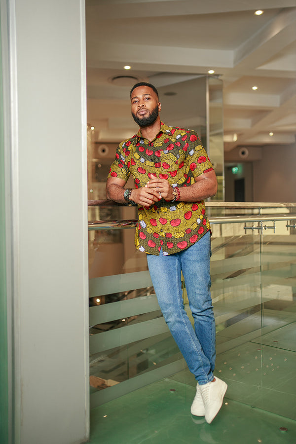 THE AFRICAN ANKARA  CHIKA SHORT SLEEVE SHIRT