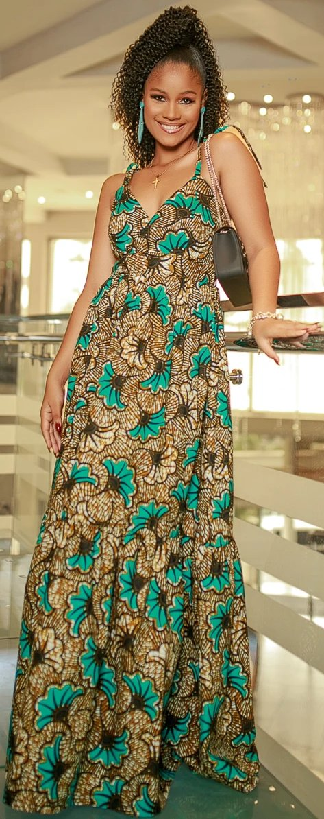 African Ankara Zuri Maxi  Dress