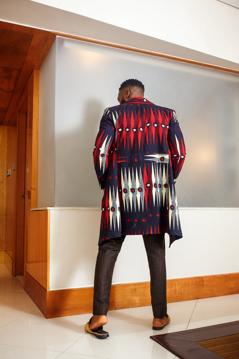African Print Ade Trench