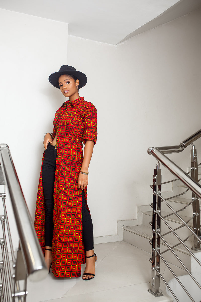 Bolanle Long sleeve shirt Dress