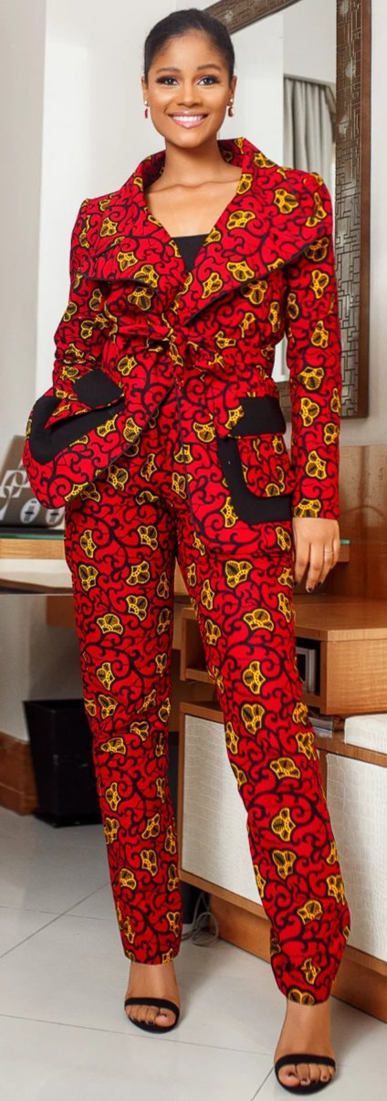 Zane African print Woman Power Pant