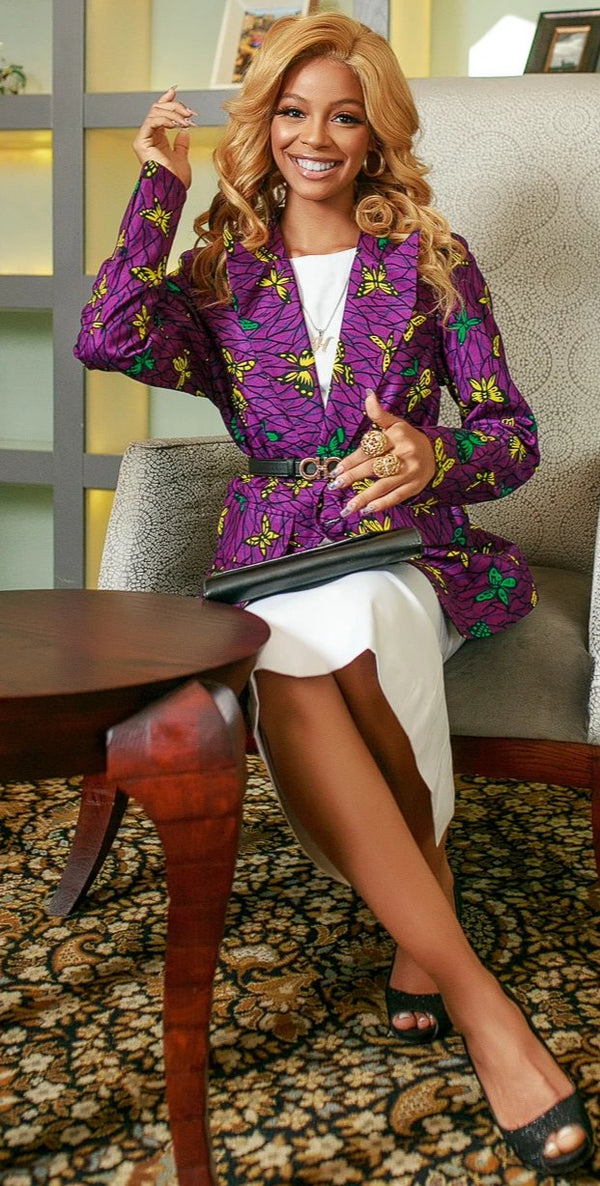 African Ankara Mumbi power jacket
