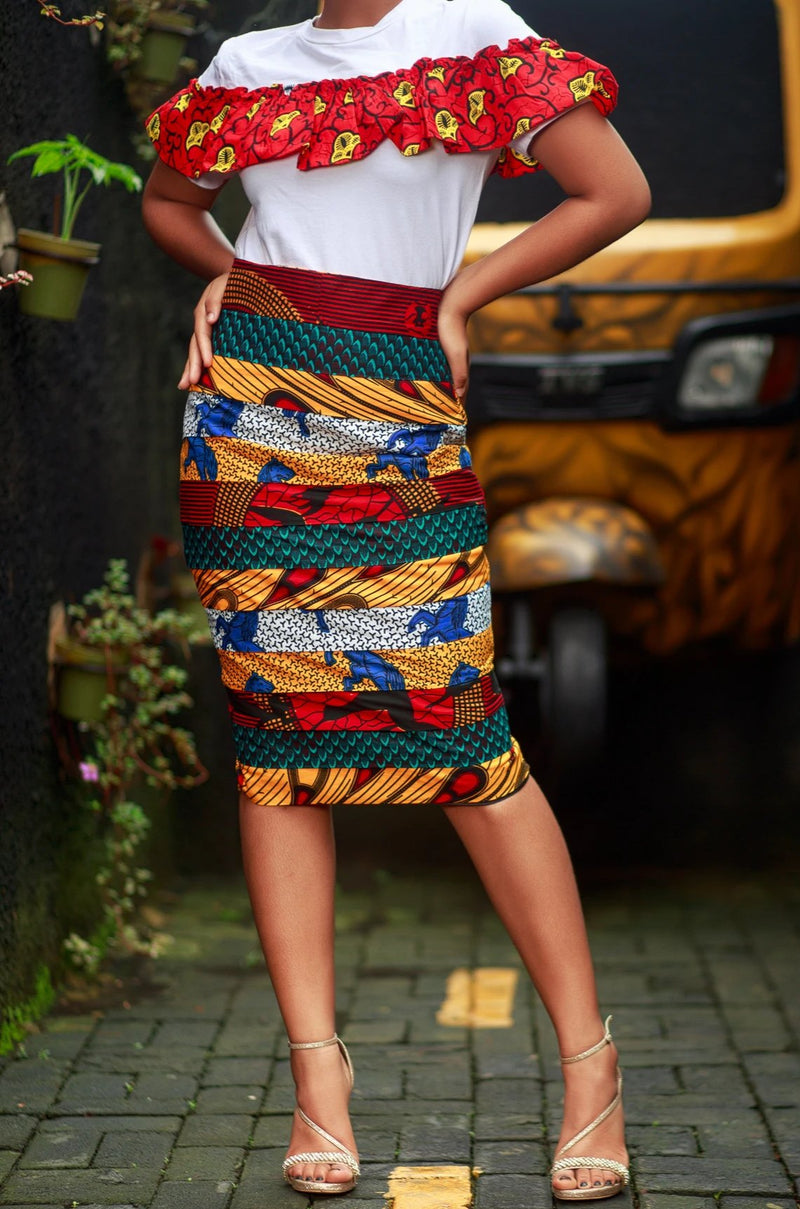 African Print Ramla Pencil Skirt