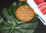 Circular Plaque Wooden Earring