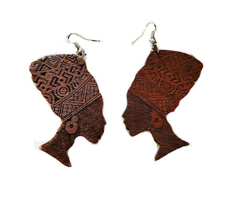 Vintage Long Wood Earring For Women