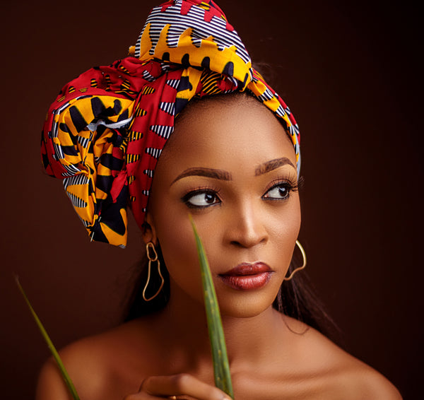 African Print Bunme Head Wrap