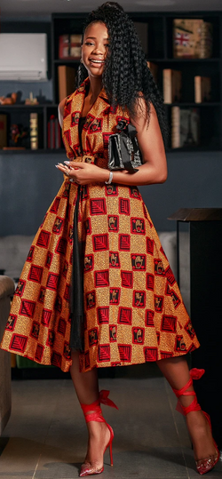 African Print Leal Dress