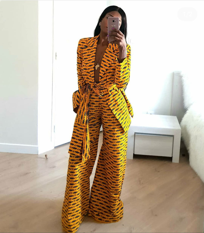 African Print Shakina Jacket and Pant Set