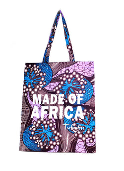 Tufafii Tote Bag (Blue Sea Flower)