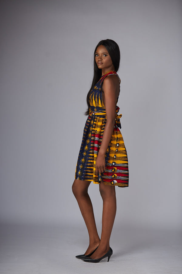 African Print Urian Infinity Dress