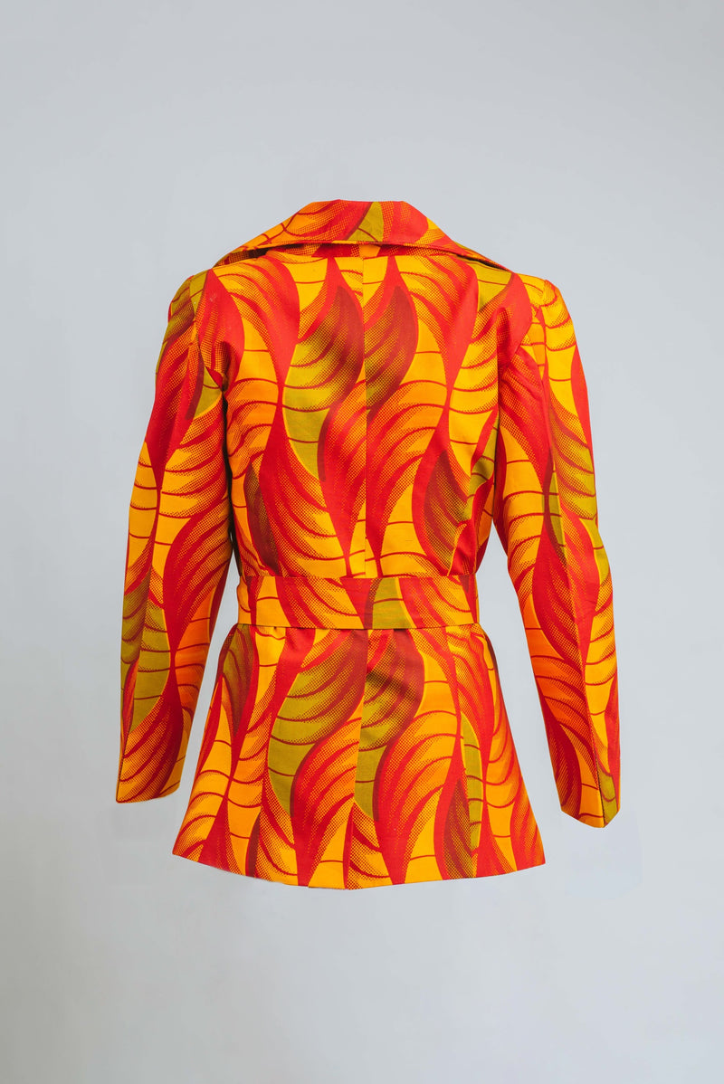 Ankara Fabric Zoya power jacket