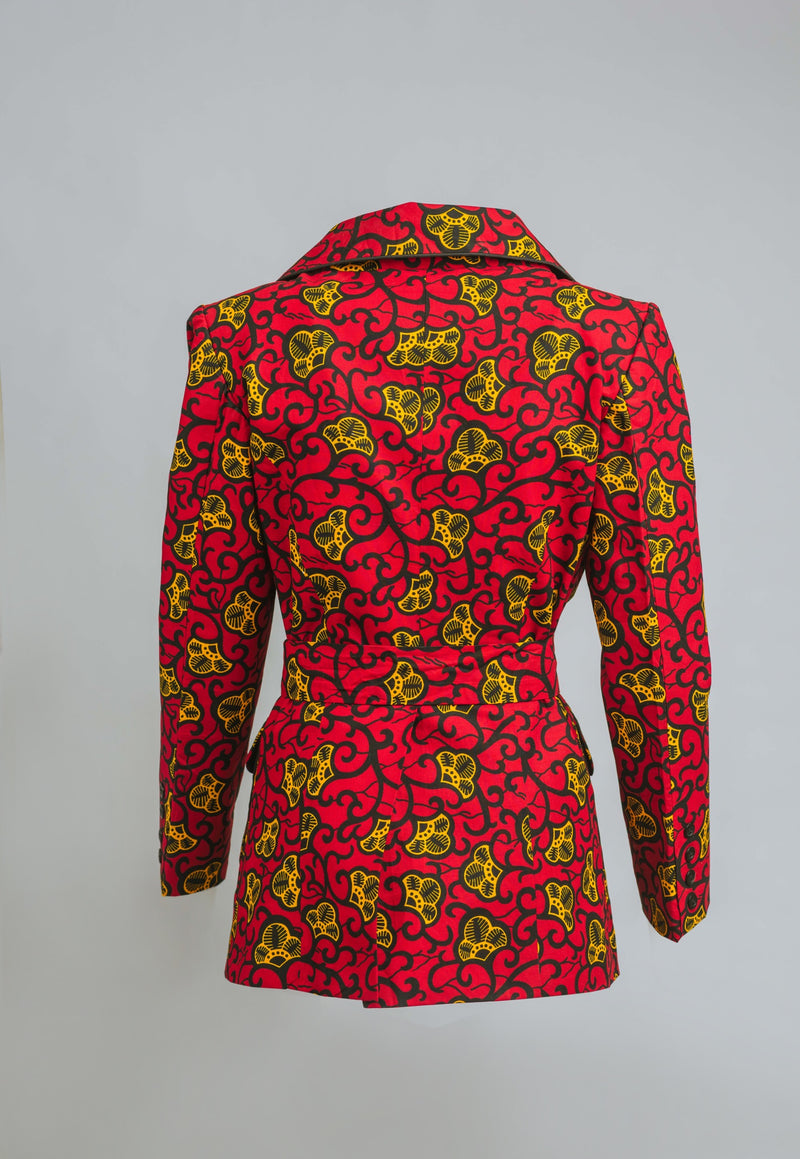 Zane African print Woman Power Jacket