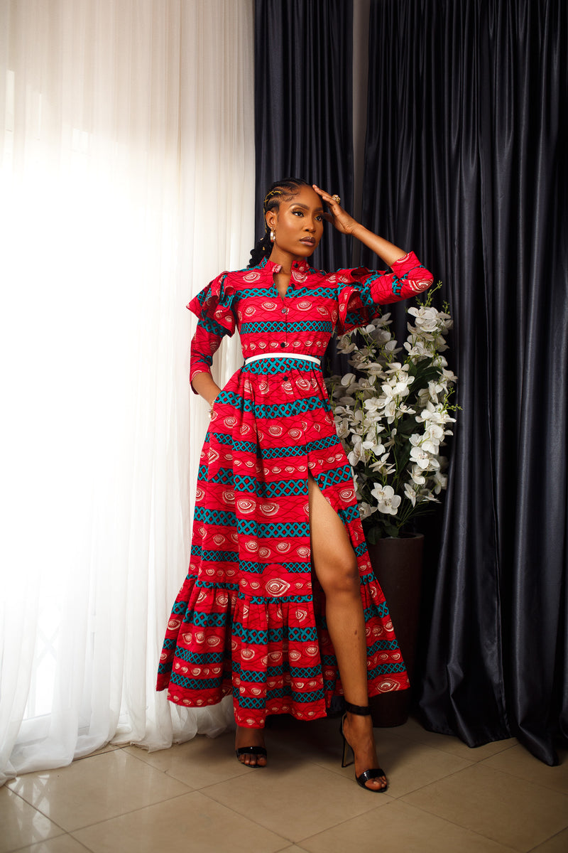 African Print Masego Maxi Dress