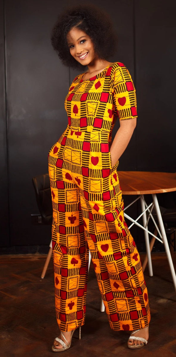 African Print Tayla Jumpsuit
