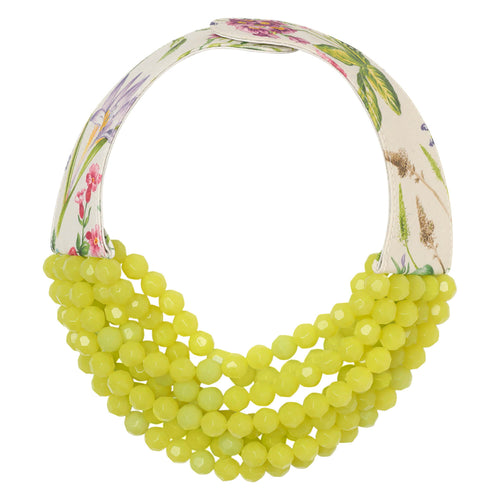 Printed Floral Bright Lime - Fairchild Baldwin - Handmade in Italy
