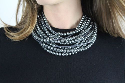 Glass Pearl Hematite - Fairchild Baldwin - Handmade in Italy