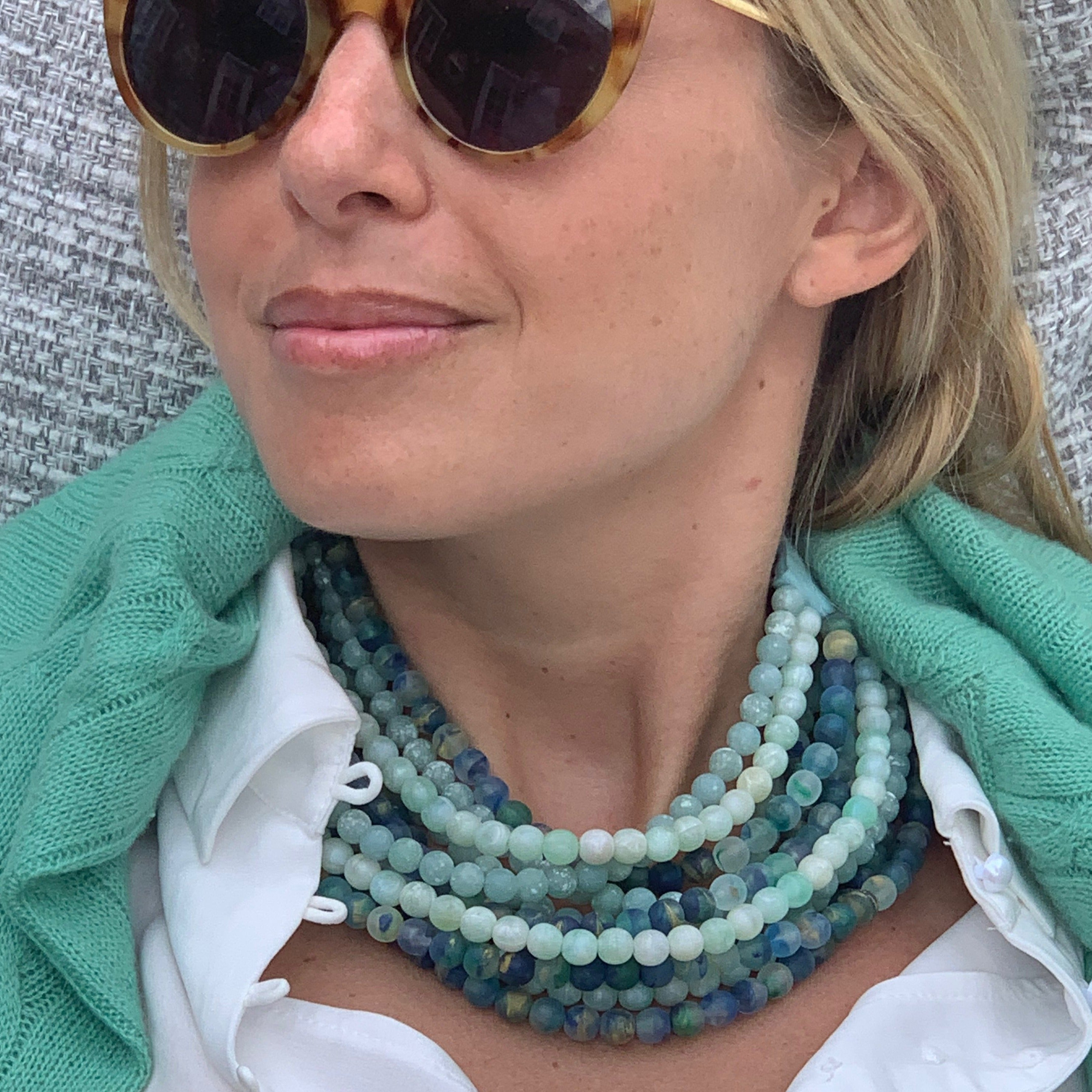 Marble Sea Green - Fairchild Baldwin - Handmade in Italy