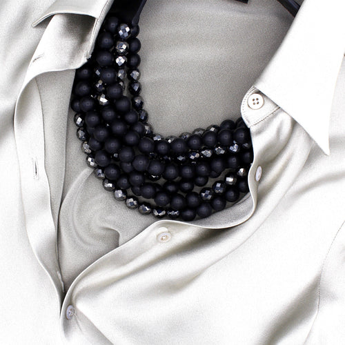 Jet Black & Hematite - Fairchild Baldwin - Handmade in Italy