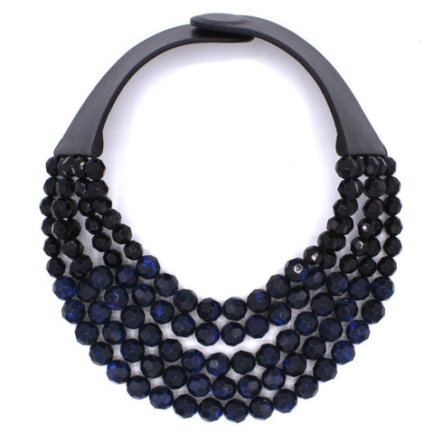 Matte Royal Blue Laser Cut Collar