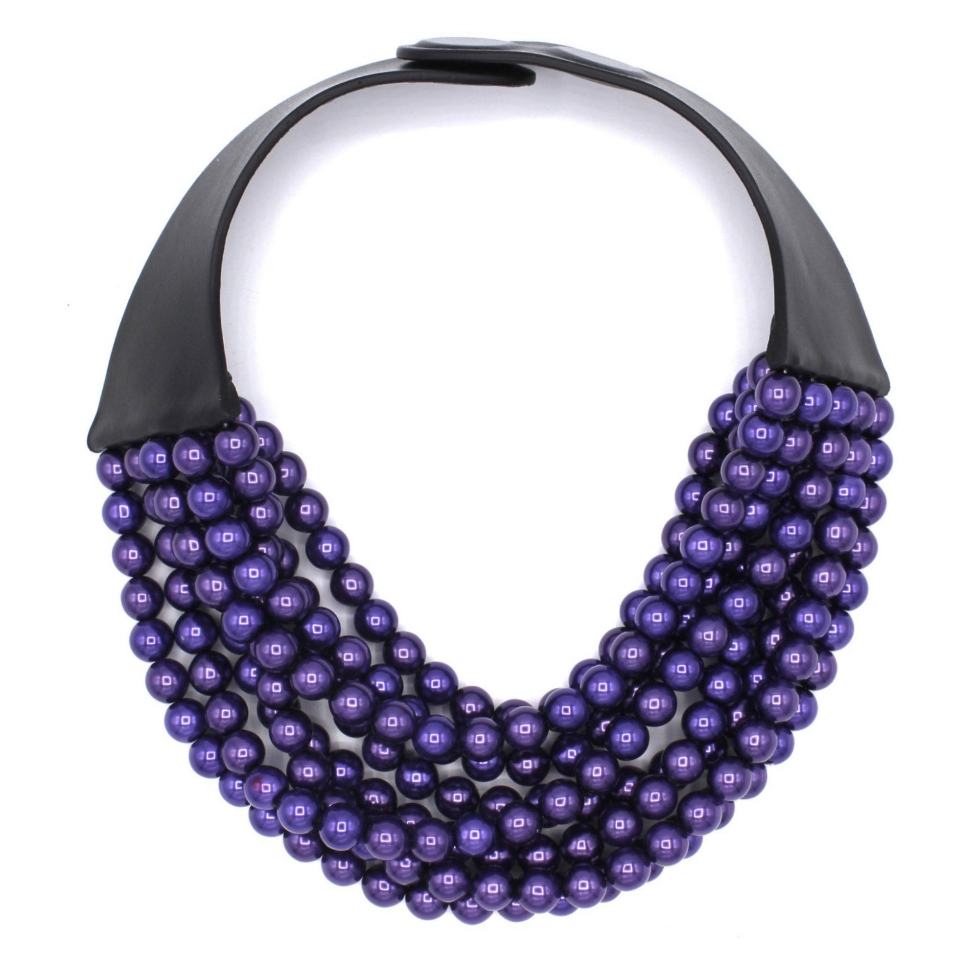 Violet Glass Pearl - Fairchild Baldwin - Handmade in Italy