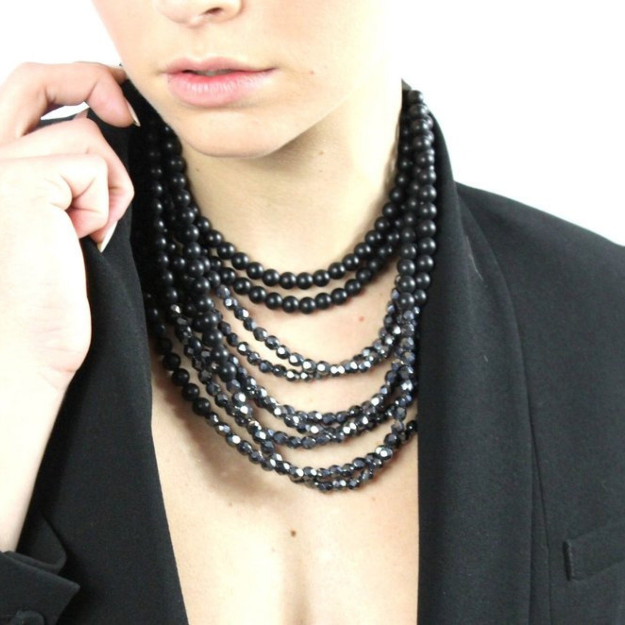 Hematite & Black - Fairchild Baldwin - Handmade in Italy
