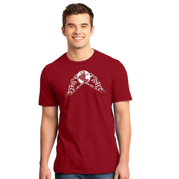 'Skeleton' Men Ringspun SS Tee -Red