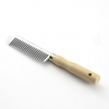 Aluminium Mane Comb with Wooden Handle