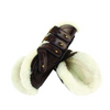 Collegiate Leather Sheepskin Open Front Jump Boots