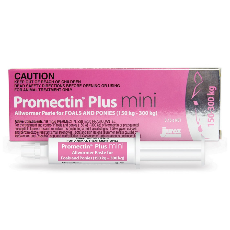 Promectin Plus Mini Tube Wormer for Foals & Ponies (150kg - 300kg)