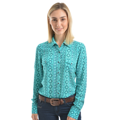 Pure Western Women's Desiree Print Long Sleeve Shirt