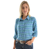 Pure Western Women's Chanel Print Tab Front Shirt