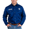 Ringers Western Men's Hawkeye Full Button Embroidered Work Shirt