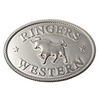 Ringers Western Buckle Silver