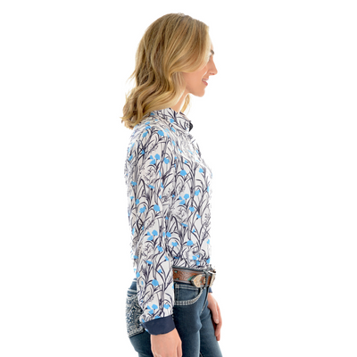 Wrangler Women's Anna Print Long Sleeve Shirt