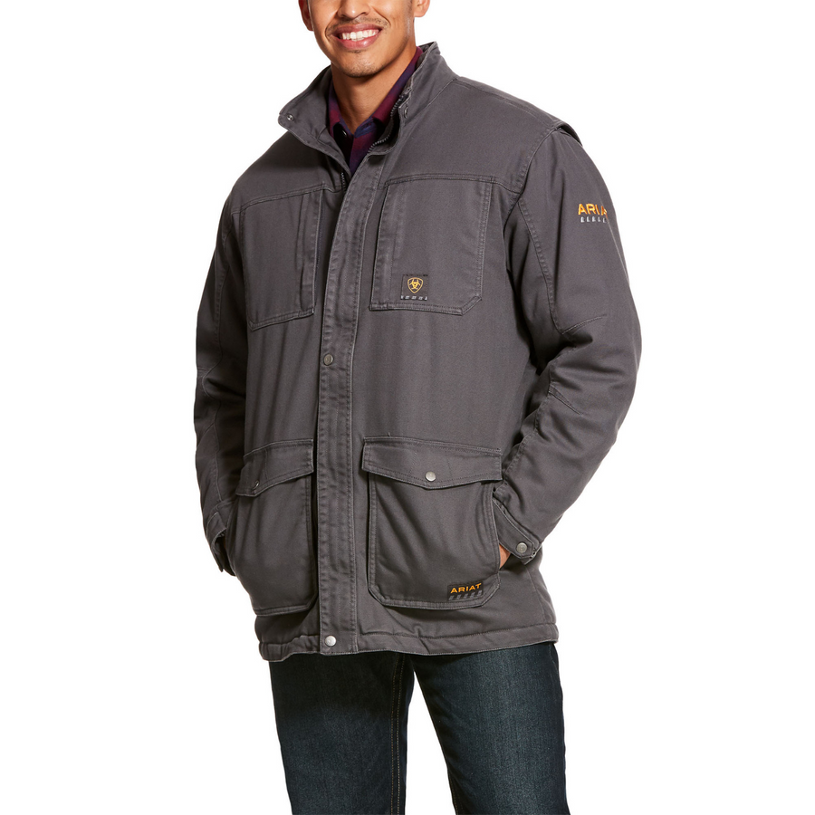 Ariat Men's Rebar Washed DuraCanvas Insulated Barn Coat