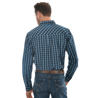 Pure Western Men's Alfonso Check Button Down Long Sleeve Shirt