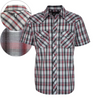 Pure Western Men's Corban Check Short Sleeve Shirt