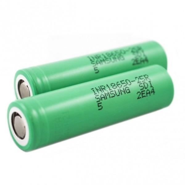 Samsung INR 25R 18650 2500mAh Battery (2 Pack)