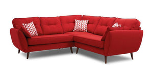 Addilyn collection L shape fabric sofa - Sofa Set Online Bangalore