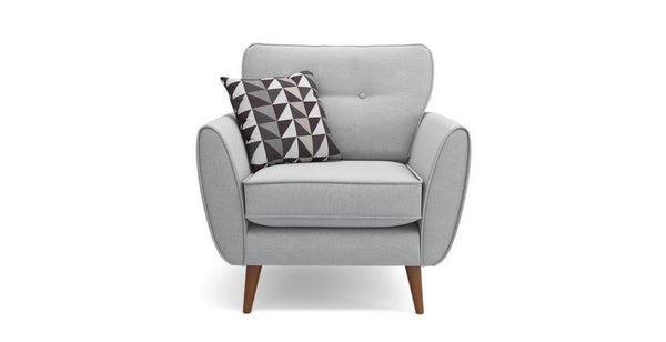 Addilyn silver fabric sofa set - Sofa Set Online Bangalore