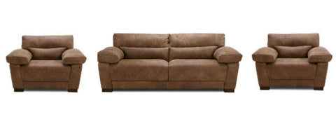 Armelle expresso art leather sofa set - Sofa Set Online Bangalore