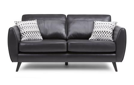 Aurora in black art leather sofa - Sofa Set Online Bangalore