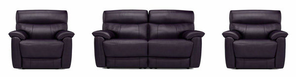 Bexley in black art leather recliner - Sofa Set Online Bangalore
