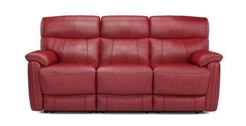 Bexley in scarlet red art leather recliner - Sofa Set Online Bangalore