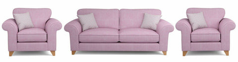 light violet fabric sofa set - yellowliving.in