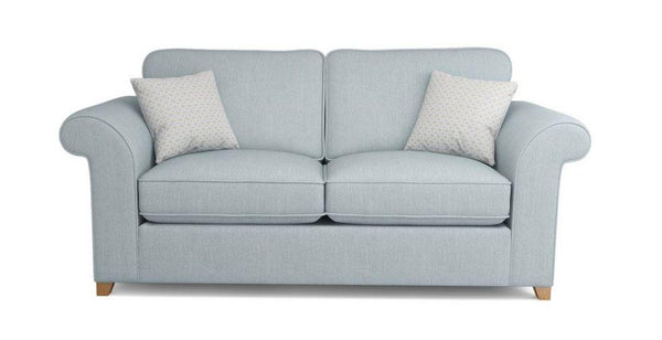 Bliss collection in sky blue fabric sofa - Sofa Set Online Bangalore
