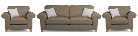 Bliss collection nutmeg fabric sofa - Sofa Set Online Bangalore