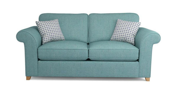 Bliss collection turquoise fabric sofa set - Sofa Set Online Bangalore