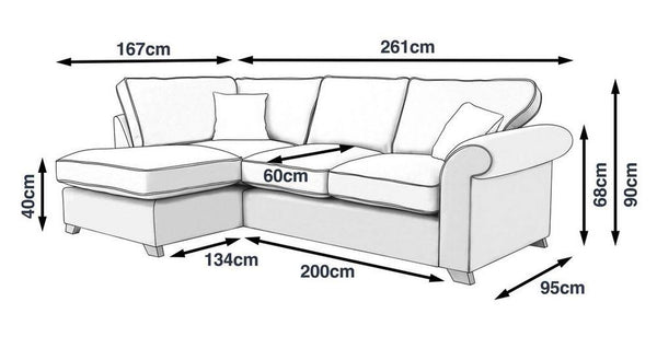 Bliss in L shape fabric sofa - Sofa Set Online Bangalore