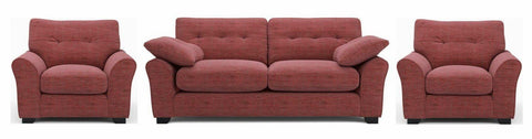 Camari elegant red contemporary sofa set - Sofa Set Online Bangalore